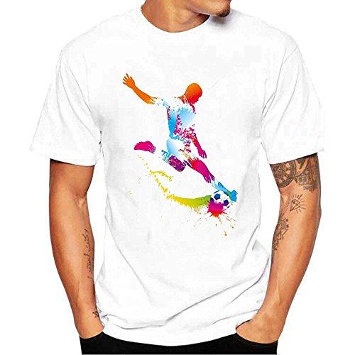 HGWXX7 Men&Women 2018 Russia World Cup Football Print Short Sleeve Tops T-Shirt ()