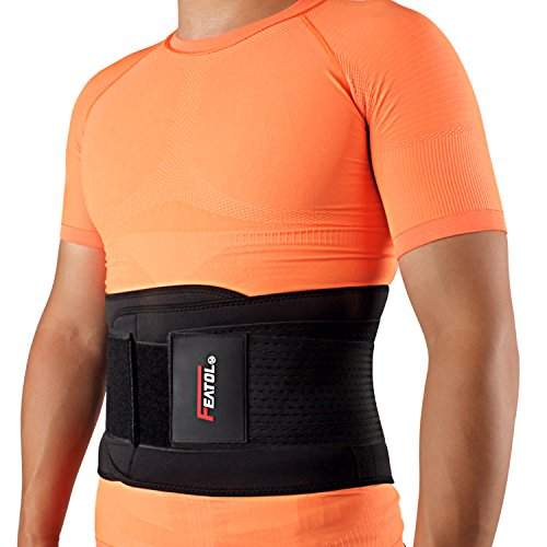 Back Brace Lumbar Support Belt with Dual Adjustable Straps for Lower Back Pain Relief & Treatment of Sciatica, Scoliosis, Herniated Disc or Degenerative Disc Disease by (Dual Adjustable Back Support)