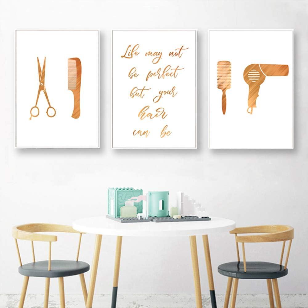 Curling Iron Poster Print Hair Stylist Beautician Gift Salon Wall Art