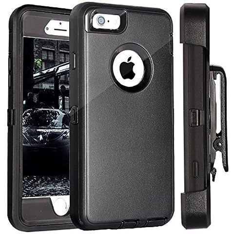 iPhone 6S Plus Case, Fogeek PC TPU Combo Protective Case Heavy Duty Protective for iPhone 6 Plus & iPhone 6S Plus w/ 360 Degree Rotary Belt Clip & Kickstand 5.5 inch(Black)