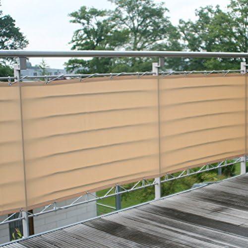 Malla de ocultación 65 cm x 3 m, color beige: Amazon.es: Jardín