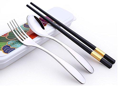 Spoon Chopsticks Fork Set Box - 6