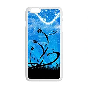 Aesthetic blue sky flowers fashion phone case for iPhone 6 plus