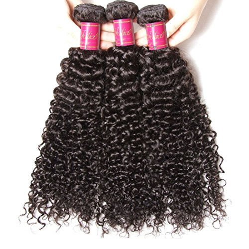 ALI JULIA Wholesale 3-Pack Malaysian Virgin Curly Hair Weave Real Human Hair Weft Extensions Cheap Bundle Hair Products Natural Color 95-100g/pc (16 18 20 inches) by Yilian (Image #2)