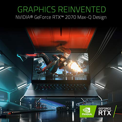 Razer Blade 15 Gaming Laptop 2019 - Intel Core i7- 9750H 6 Core, GeForce RTX 2070 Max-Q, 15.6 FHD 1080p 240Hz, 16GB RAM, 256GB SSD, CNC Aluminum, Chroma RGB Lighting, Thunderbolt 3 Compatible