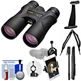 Nikon Prostaff 7S 10×42 ATB Waterproof/Fogproof Binoculars with Case + Harness + Smartphone Adapter + Tripod Adapter + Monopod + Cleaning Kit For Sale