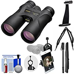 Kit includes:♦ 1) Nikon Prostaff 7S 10x42 ATB Waterproof / Fogproof Binoculars with Case♦ 2) Op/Tech USA Elastic Bino/Cam Quick Release Harness for Binoculars & Cameras♦ 3) Precision Design Universal Smartphone Adapter for Binocula...