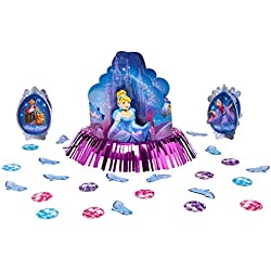 American Greetings Cinderella Disney Princess Birthday Party Table Decorating Kit (23 Pack), Blue/Pink.