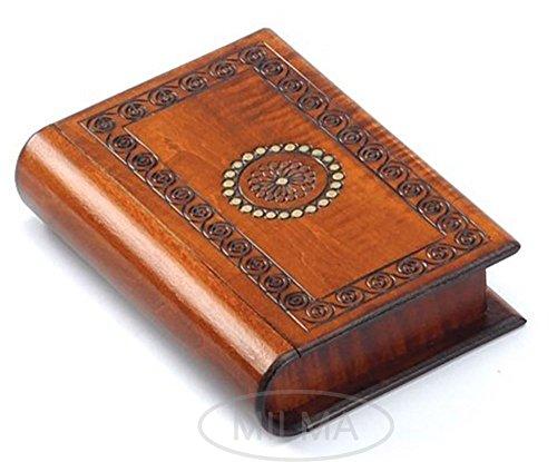 Book Style Wood Puzzle Box Polish Handmade Secret Trick Wooden Box Jewelry Box - Handmade Wooden Boxes