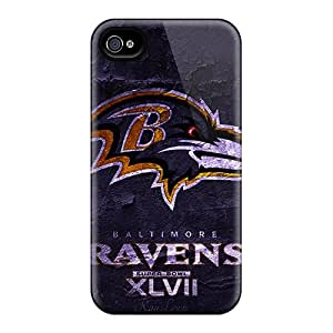 Iphone 4/4s UbY13182SbUV Allow Personal Design Stylish Super Bowl 2013 Baltimore Ravens Skin Scratch Resistant Hard Phone Cases -PhilHolmes