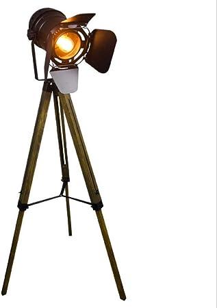 Lámpara de pie de trípode de estilo industrial vintage, proyector ...