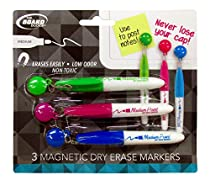 The Board Dudes Magnetic Tassel Cap Dry Erase Marker 3 Color Set Medium Point Non-Toxic