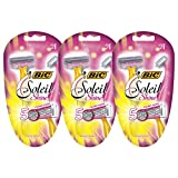 BIC Soleil Shine Women's 5 Blade Disposable Razor, 6 Count