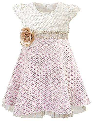 Lilax Little Girls' Sparkle Polka Dot Twirl Dress 9 Pink for $<!--$24.99-->