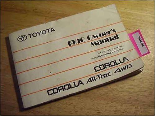 corolla 1990 users manual