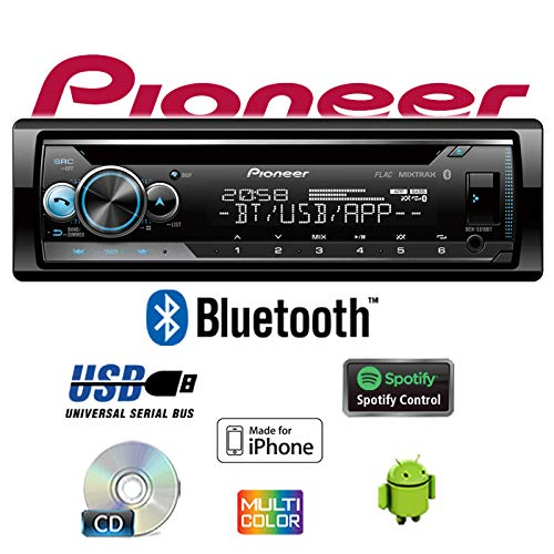 CD iPhone Bluetooth Android USB Multicolor 4x50Watt Einbauzubeh/ör JUST SOUND best choice for caraudio Einbauset f/ür Smart ForTwo 450 grau MP3 Autoradio Radio Pioneer DEH-S510BT Spotify