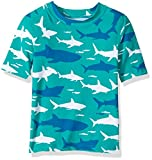 Hatley Little Boys' Short Sleeve Rash Guards, Toothy Shark, 4 Years