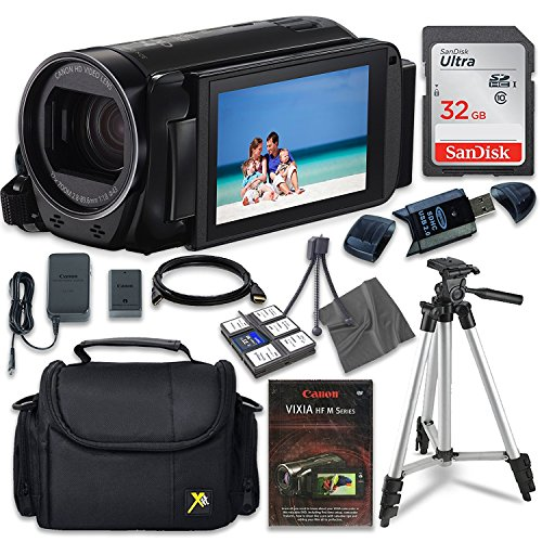 Canon VIXIA HF R70 Camcorder with Sandisk 32 GB SD Memory Card + Extra Accessory Bundle