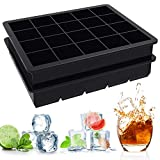 Ouddy 2 Pack Silicone Ice Cube Trays, 1' Ice Tray Small Cube, 40 Cavities Square Ice Cube Mold for Chilling Whiskey, Cocktail, Beverages & Making Candy, Cake, Chocolate, Easy Release
