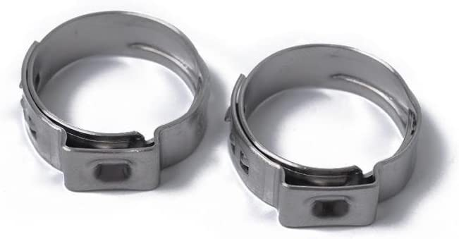 10 Pieces Stainless Steel Single Ear Hose Clamp O Clips 10 x 12.8-15.3mm 10 x 12.8-15.3mm