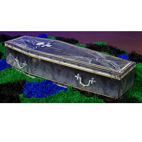 Standard 3D Halloween Creepy Coffin Standup Photo Booth Prop Background Backdrop Party Decoration Decor Scene Setter Cardboard Cutout]()