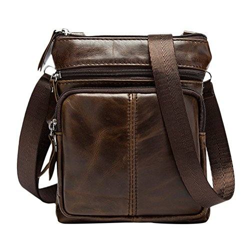 Zhhlaixing Mens Womens De las mujeres Smooth Slim Mini Zipper Cross Body Backpack Shoulder Cycling Bag Christmas Halloween Coffee