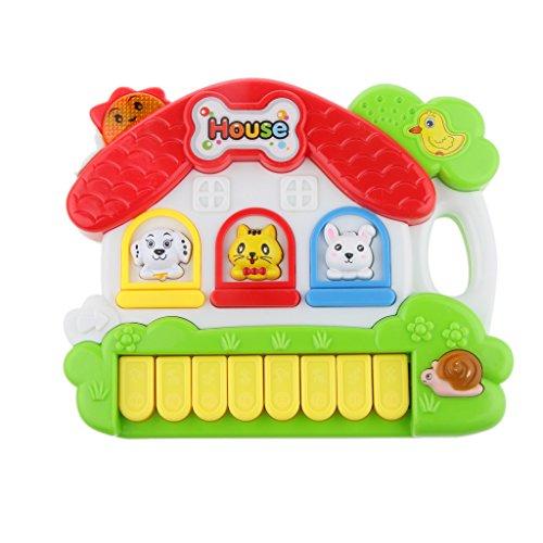 【ノーブランド 品】子供 活動 おもちゃ 学習 コテージ 音楽 ライトゲーム 動物の形 贈り物の商品画像