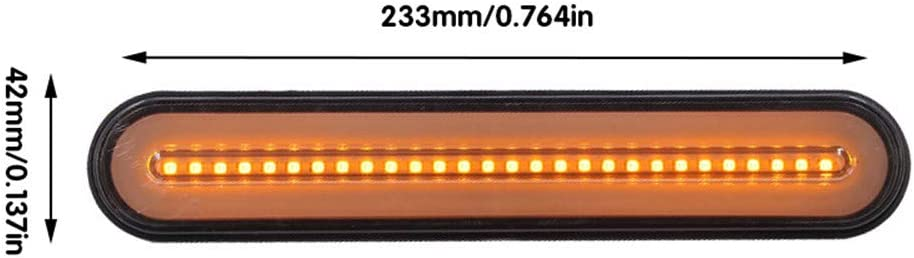 2pcs 100 LED De Freinage Feu Arri/ère /à Deux Couleurs Lumi/ère Guide Camion Modifi/é Feu Arri/ère Clignotant pour Moto /électrique Remorque Voiture Caravane Van