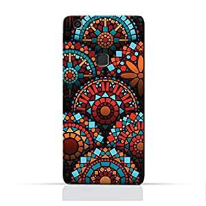AMC Design Geometrical Mandalas Pattern Printed Protective Case for Vivo V7 Plus - Multi Color