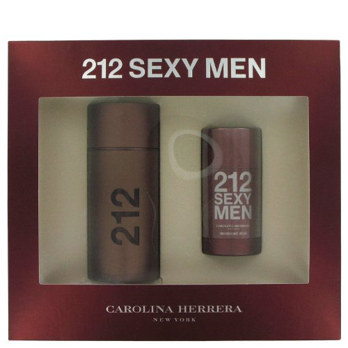 212 Sexy by Carolina Herrera Men's Gift Set -- 3.4 oz Eau De Toilette Spray + 2.6 oz Deodorant Stick - 100% ()
