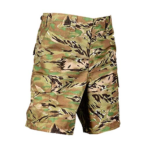 Tru-Spec Men's All Terrain Tiger Poly/Cotton Ripstop BDU Shorts, 2XL
