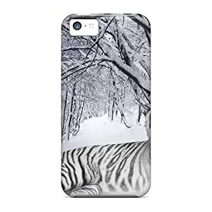 Cute High Quality Iphone 5c White Tiger Case