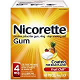 Nicorette Nicotine Gum Fruit Chill 4 milligram Stop Smoking Aid 160 count