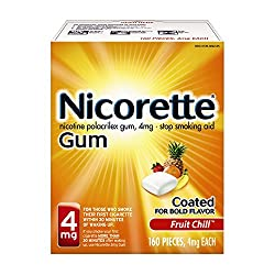Nicorette Nicotine Gum To Stop Smoking, 4 Mg, Fruit Chill, 160 Count