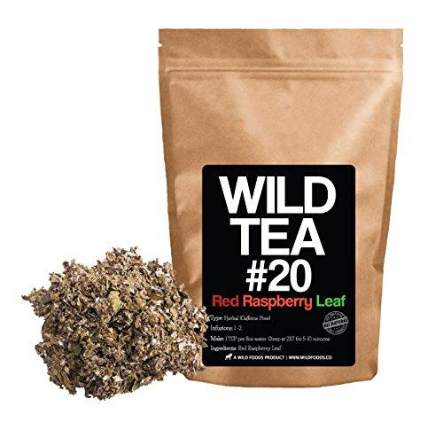 Red Raspberry Leaf Tea, Organically Grown Herbal Loose Leaf Tea By Wild Foods Co (2 ounce) - 2 Oz Raspberry Leaf