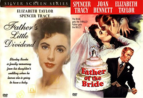 Father of the Bride DVD + Father's Little Dividend Classic Screen Series Elizabeth Taylor & Spencer Tracy - Show Velvet Collection