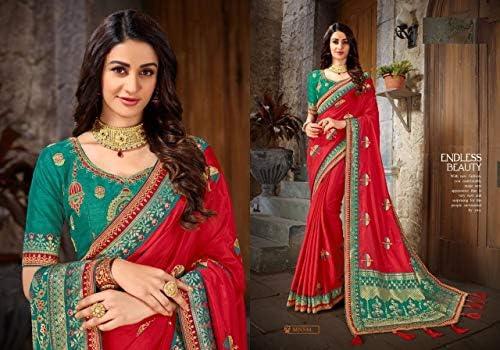 Red Designer New Party Wear Art di Seta Saree Sari con Camicetta Piece of Traditional Ethnic Clothing Abito per Donna Trendy Indian Indian Indian 8104