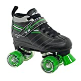 Roller Derby Laser 7.9 MX Boys Speed Roller Skates - 7.0/Black-Green