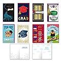 Bundle of 8 Large Handmade Graduation Cards - Large Decorative Congratulatory Grad Day Enclosure Card Pack
