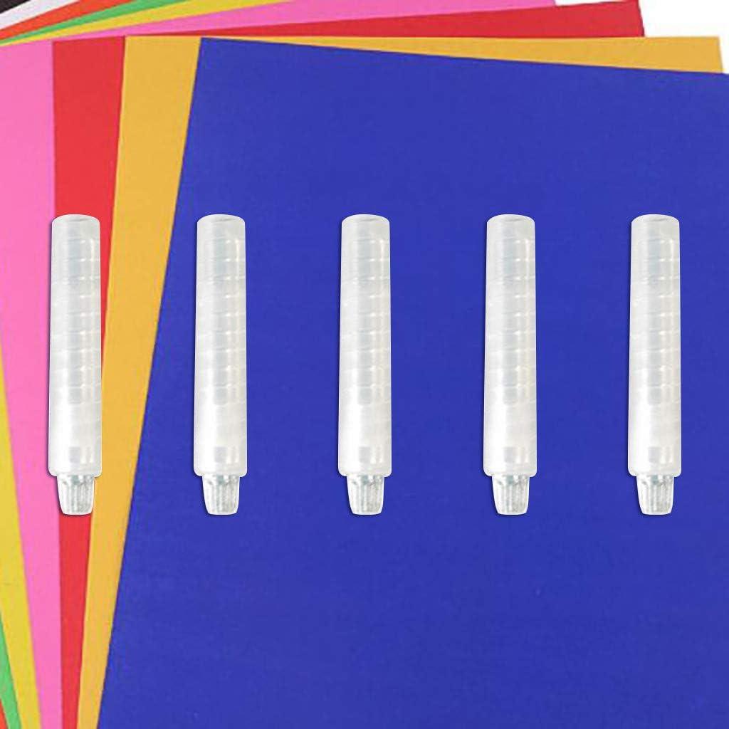 Haluoo 5 PCS Clear Dustless Chalk Holder Plastic Adjustable Chalk Clip Dustproof Chalk Sleeve Rod Chalk Cover for Teachers Kids Students School Office Drawing Writing On Blackboard Whiteboard