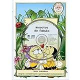 CD de INSECTOS DE FABULA CD de Hard Cover y Libro de Audio CD-Kids Libro-Historias Cortas-Historias Morales-Historias divertidas-Cuentos de la hora de ... equipo, ayudando a otros. (Spanish Edition)