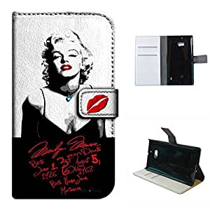 Lumia N930 case, SoloShow(R) Marilyn Monroe sexy hot pattern Luxury Wallet PU Leather Holder Pouch case for Microsoft Nokia Lumia N930 5.0 inch (love Monroe)
