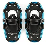 Lucky Bums Youth and Adult Lightweight Aluminum Snowshoes with FREE Carrying Tote Bag