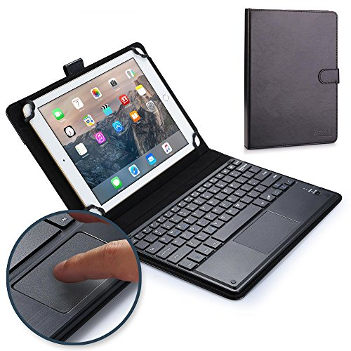 Asus Zenpad Z10 keyboard case, COOPER TOUCHPAD EXECUTIVE 2-in-1 Wireless Bluetooth Keyboard Mouse Leather Travel Cases Cover Holder Folio Portfolio + Stand ZT500KL (Black)