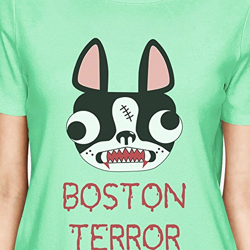 a25f9815eb6db Taille Boston Terrier 365 shirt Courtes Manches Printing Terror Unique  Femme T qYvqP8
