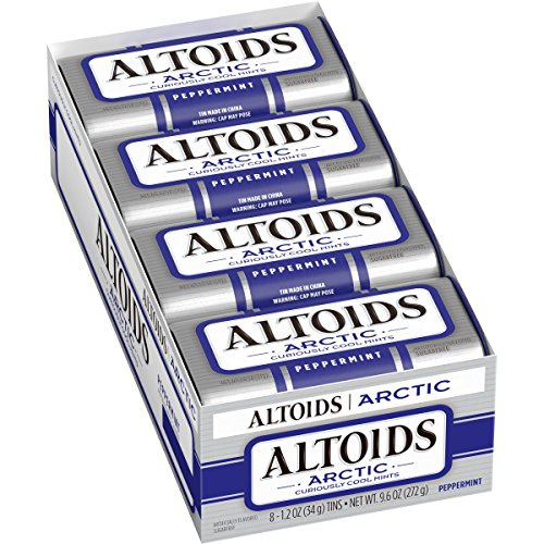 Chewable Breath Freshener - Altoids Arctic Peppermint Mints, 1.2 Ounce (8 packs)