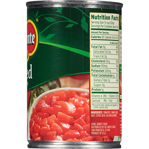 Amazon.com : Del Monte Canned Quality Petite Cut Diced Tomatoes, 14.5-Ounce (Pack of 12) : Canned And Jarred Diced Tomatoes : Grocery & Gourmet Food