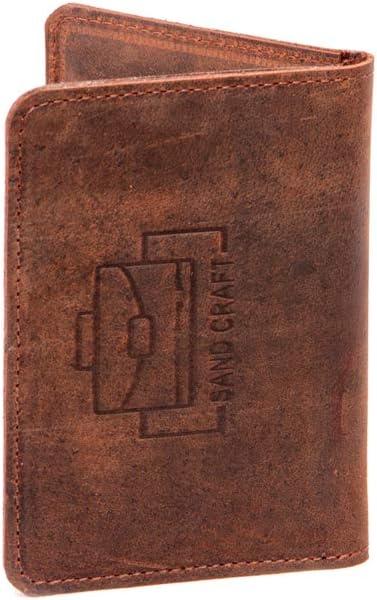 SAND CRAFT Passport Cover Travel accessory Passport card holder Wallet Brown Leather Passport Holder cowhide SALE