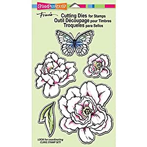 Stampendous rubber stamp set lovely garden for Rubber stamps arts and crafts