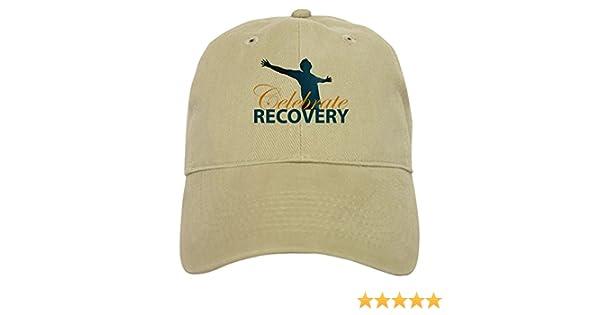 bc3e4974f4b Amazon.com  CafePress - Celebrate Recovery Design - Baseball Cap with  Adjustable Closure